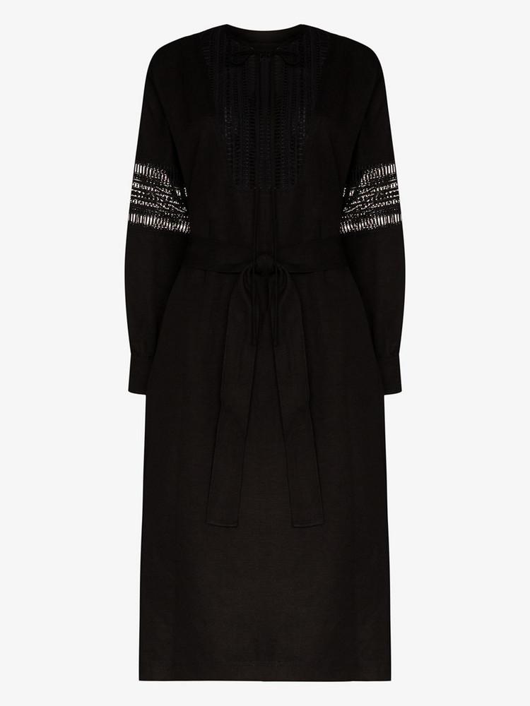 Low Classic Lace bib front dress in black