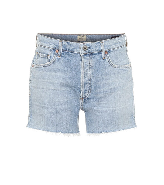 Citizens of Humanity Marlow high-rise denim shorts in blue