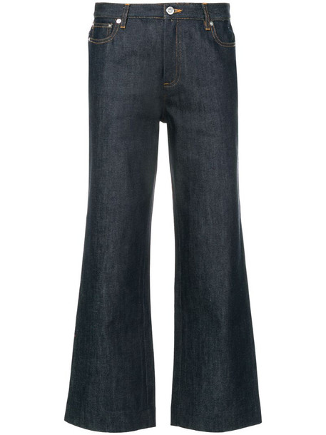 A.P.C. cropped jeans in blue
