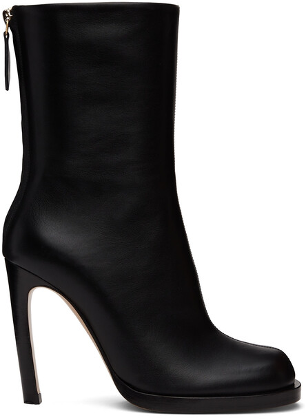 Burberry Black Heeled Ankle Boots