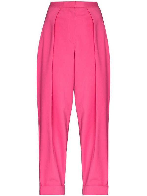 ANOUKI Peggy high-rise pleated trousers in pink