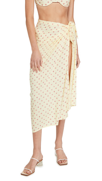 FAITHFULL THE BRAND Floral Pareo in print