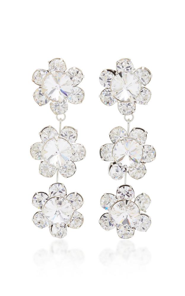 Jennifer Behr Gwenda Dangling Flower Earring in silver