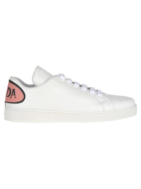 Prada Prada Comics Sneakers in pink / white