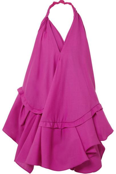 Jacquemus - Rosa Open-back Asymmetric Wool Halterneck Dress - Pink