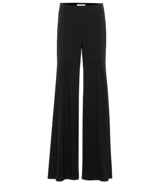 Chloé Wide-leg crêpe pants in black