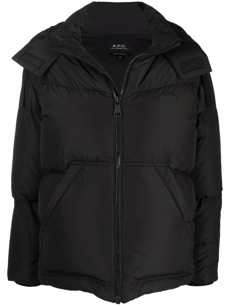 A.P.C. A.P.C. Marine down-filled hooded jacket - Black