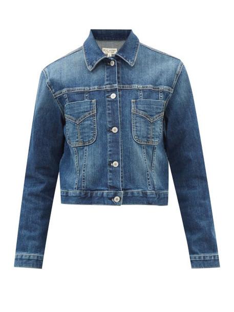 Nili Lotan - Tori Cropped Denim Jacket - Womens - Denim