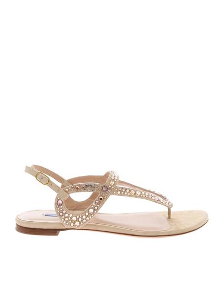 Stuart Weitzman Allura Sandals in beige