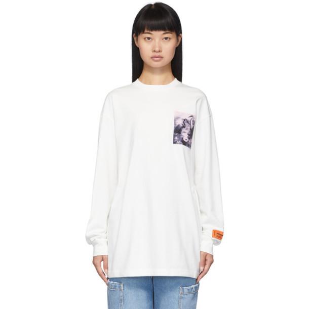 Heron Preston White Heron Patch Long Sleeve T-Shirt