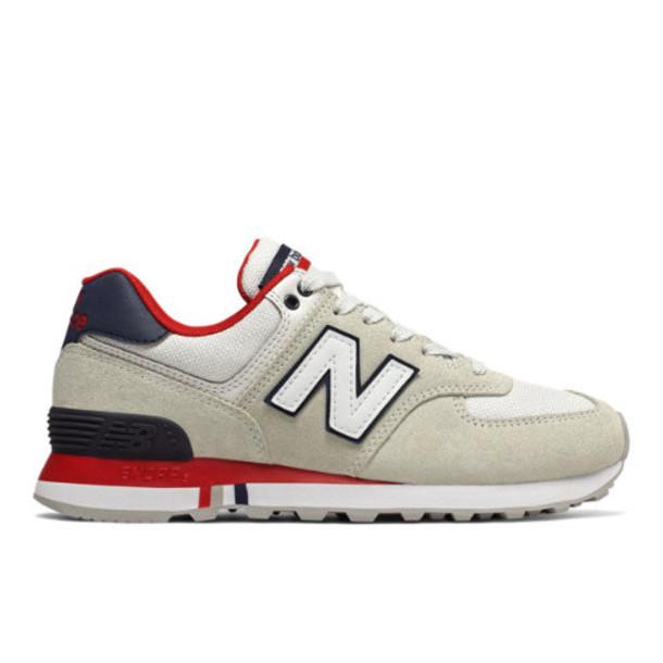 New Balance 574 Summer Shore Women's 574 Shoes - Grey/Navy (WL574NSA)