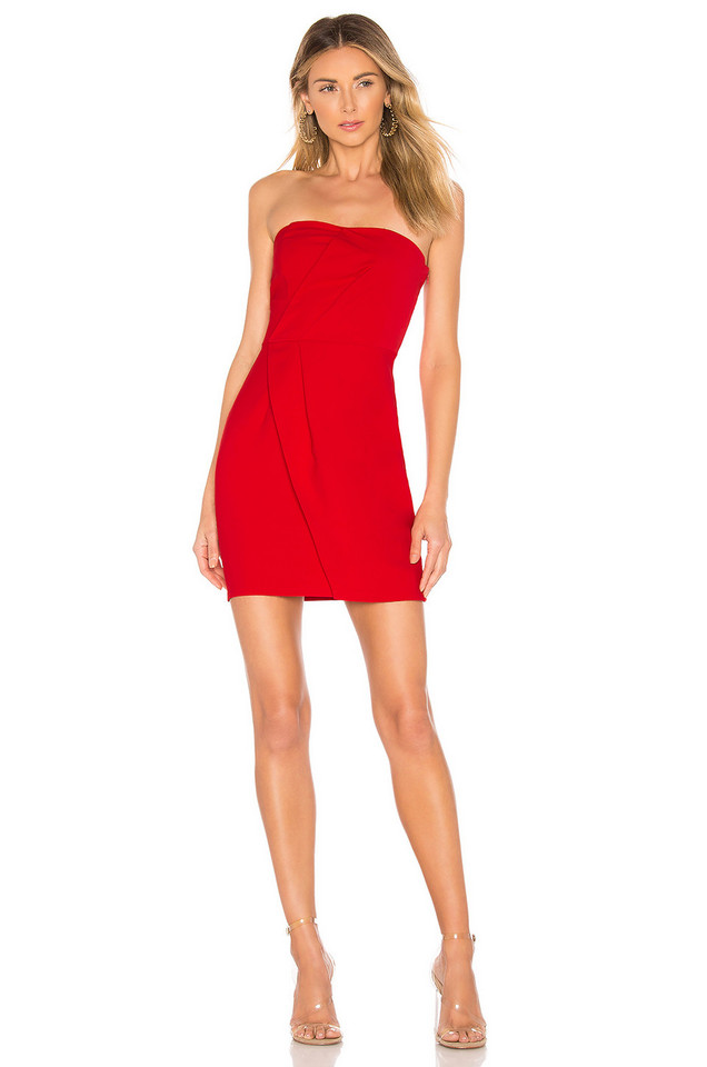 About Us Alexandra Strapless Mini Dress in red