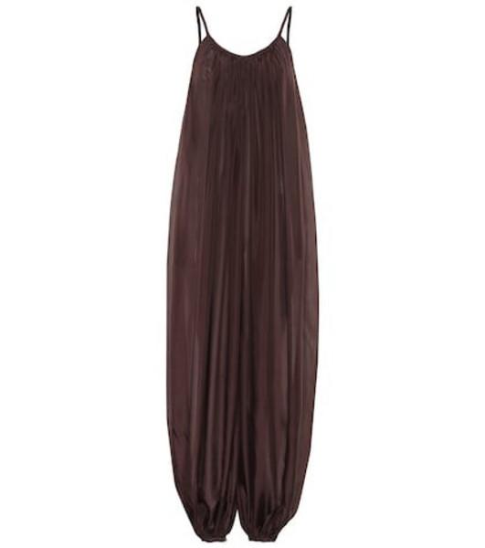 Kalita Balloon silk jumpsuit in brown