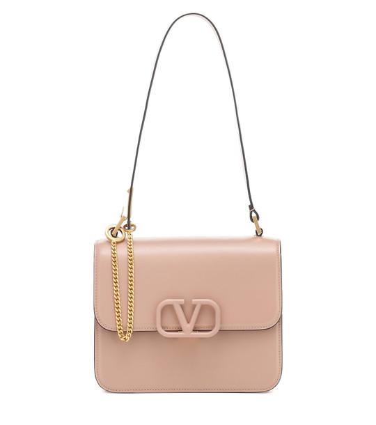 Valentino Garavani VSLING Small leather shoulder bag in pink