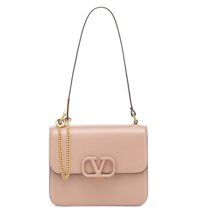 Valentino Garavani VSLING Small leather shoulder bag in pink