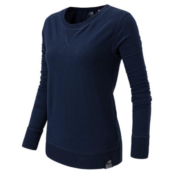 New Balance 53501 Women's Crew Neck Sweatshirt - Navy (WT53501NV)