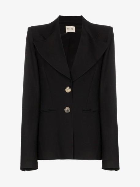 Khaite Alexis oversized lapels blazer jacket in black