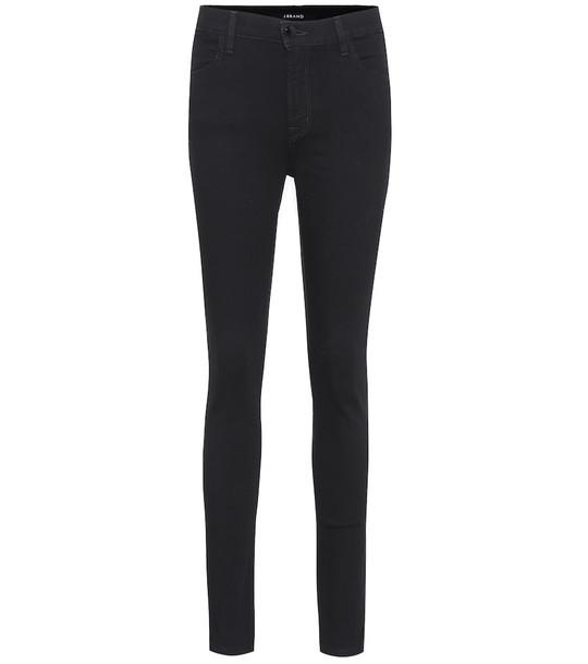 J Brand Maria high-rise skinny jeans in black