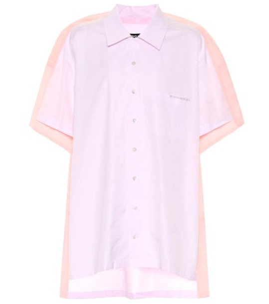 Y/PROJECT Cotton poplin bowling shirt in pink