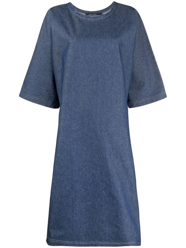 Sofie D'hoore short-sleeve oversized denim dress in blue