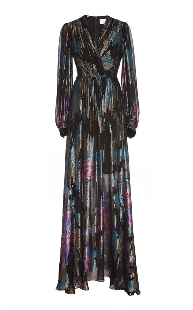 Peter Pilotto Fireworks Fil Coupe Gown in multi