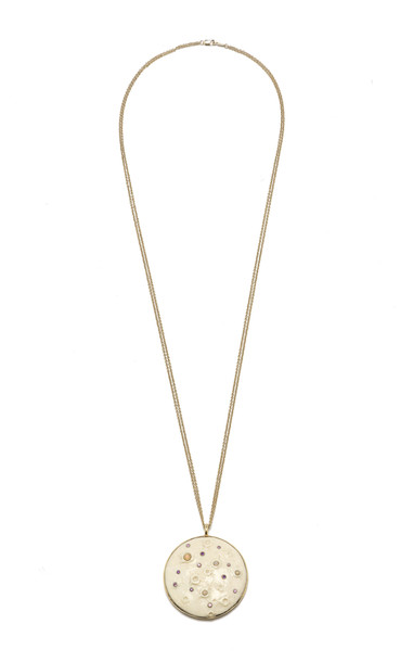 Bibi van der Velden Mammoth Supermoon Necklace in gold