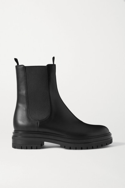 Gianvito Rossi - Leather Chelsea Boots - Black