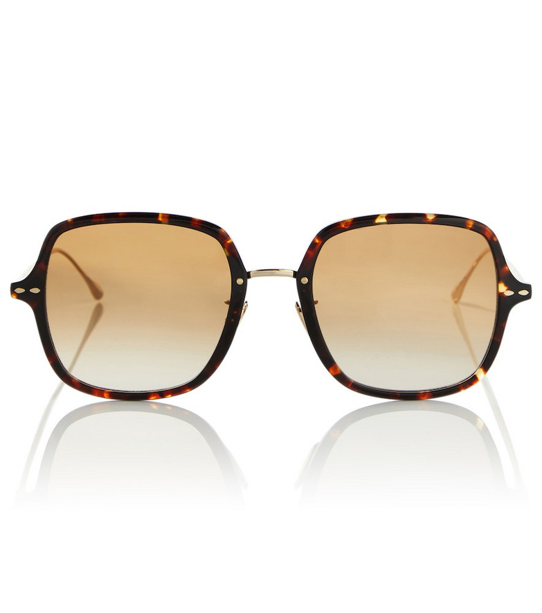 Isabel Marant Oversized square sunglasses in brown