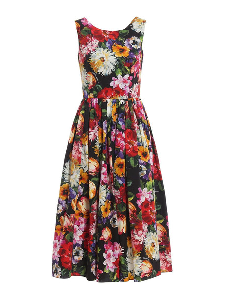 Dolce & Gabbana Dress Flower in nero