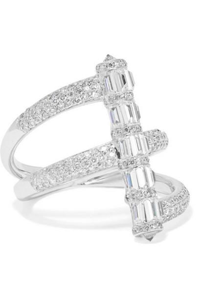 Martin Katz - 18-karat White Gold Diamond Ring