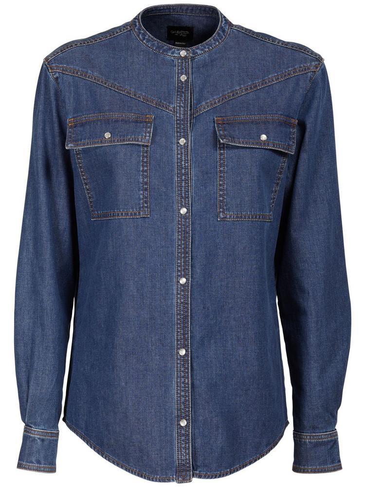 GIAMBATTISTA VALLI Cotton Denim Shirt in blue
