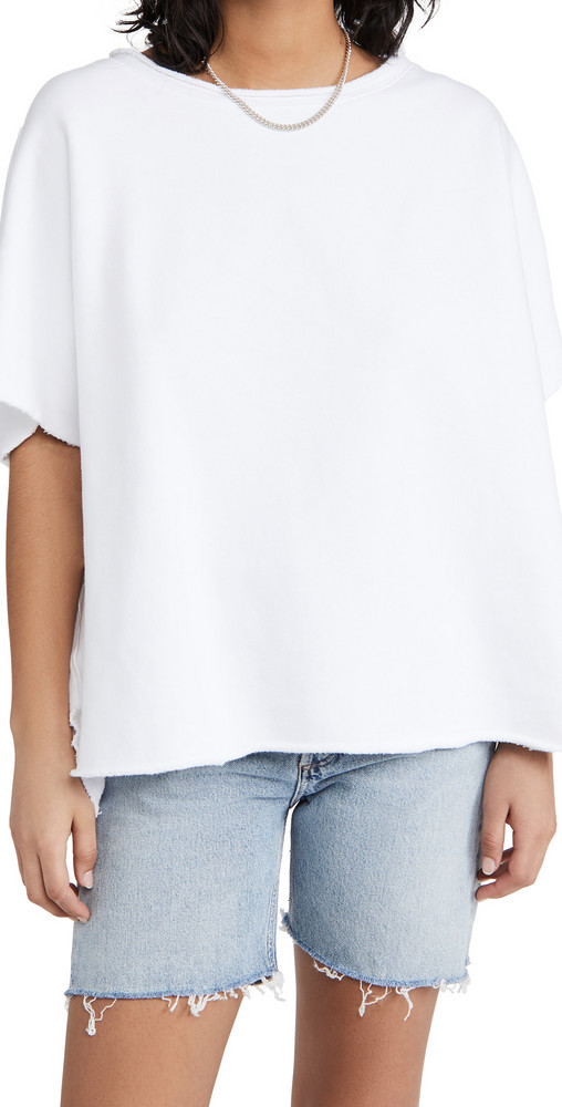 Frank & Eileen Capelet Tee in white