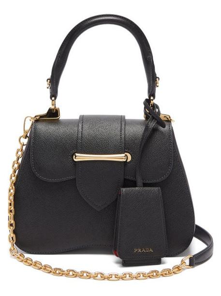 Prada - Sidonie Mini Saffiano Leather Cross Body Bag - Womens - Black