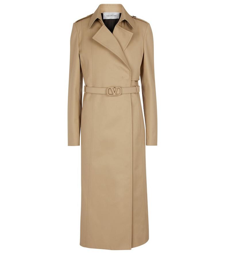 Valentino Gabardine trench coat in beige