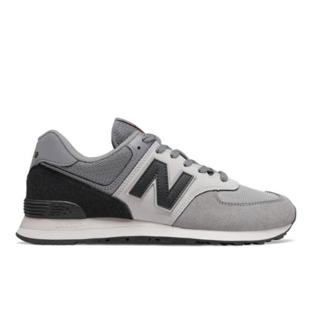 New Balance 574 Men's 574 Shoes - Grey/Black (ML574JHV)