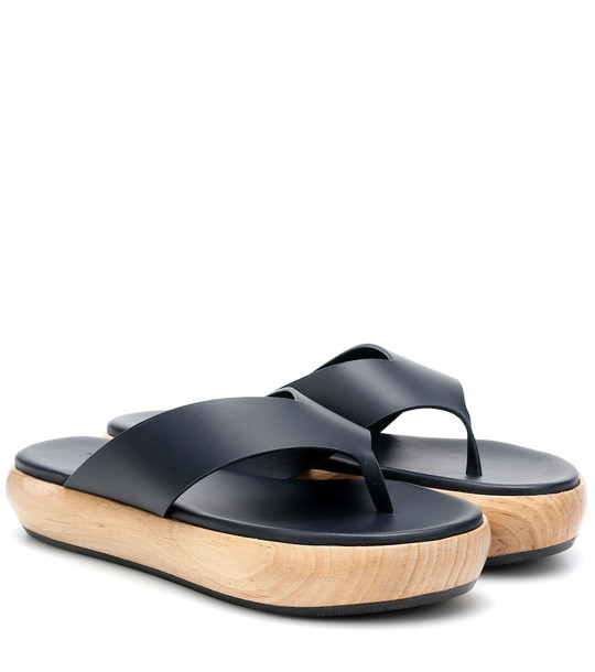 Neous Erycina leather platform sandals in blue