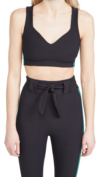 Year of Ours Thermal Slope Bra in black / green