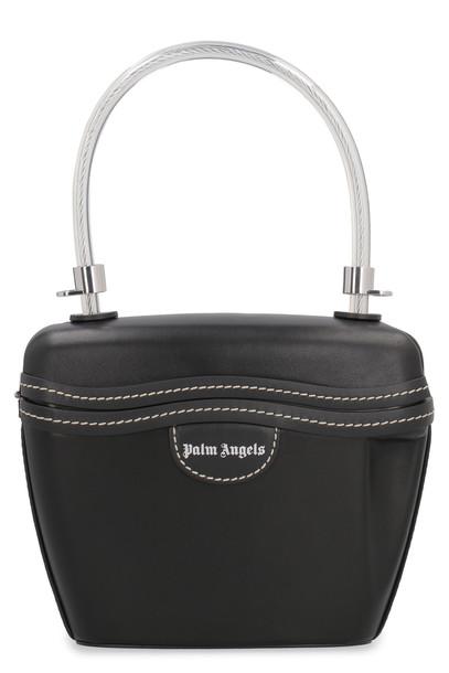 Palm Angels Padlock Handbag in black