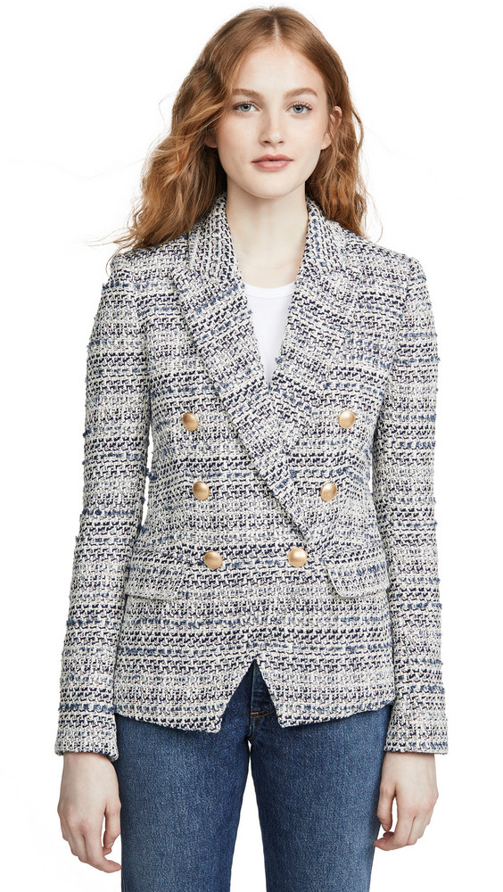 L'AGENCE The Kenzie Blazer in blue