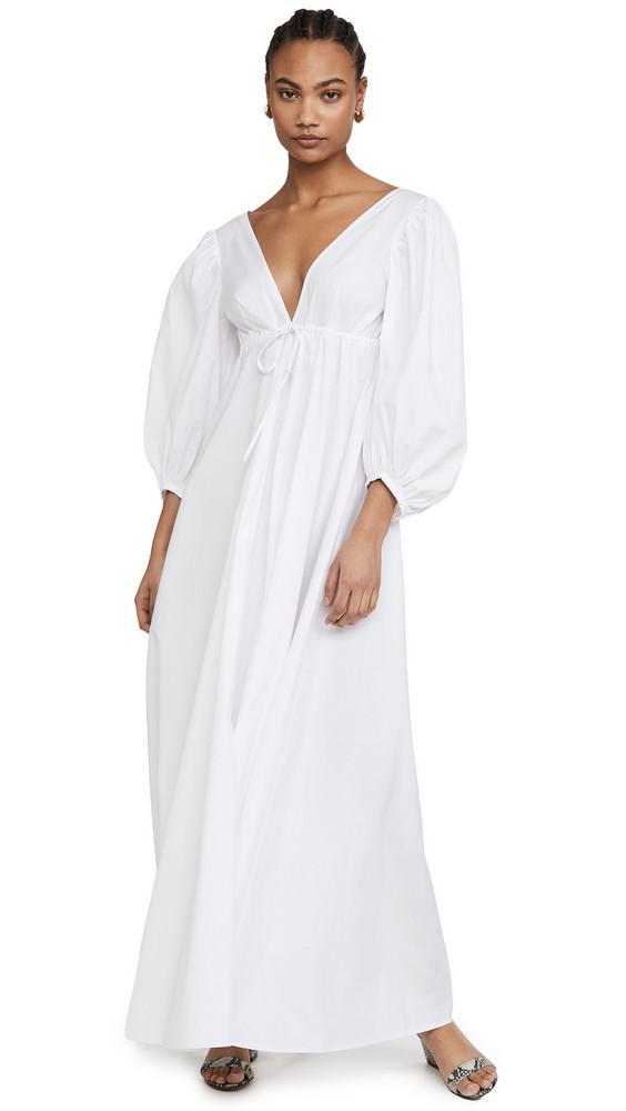 STAUD Amaretti Dress in white
