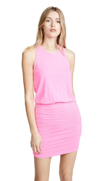 SUNDRY Sleeveless Dress in pink