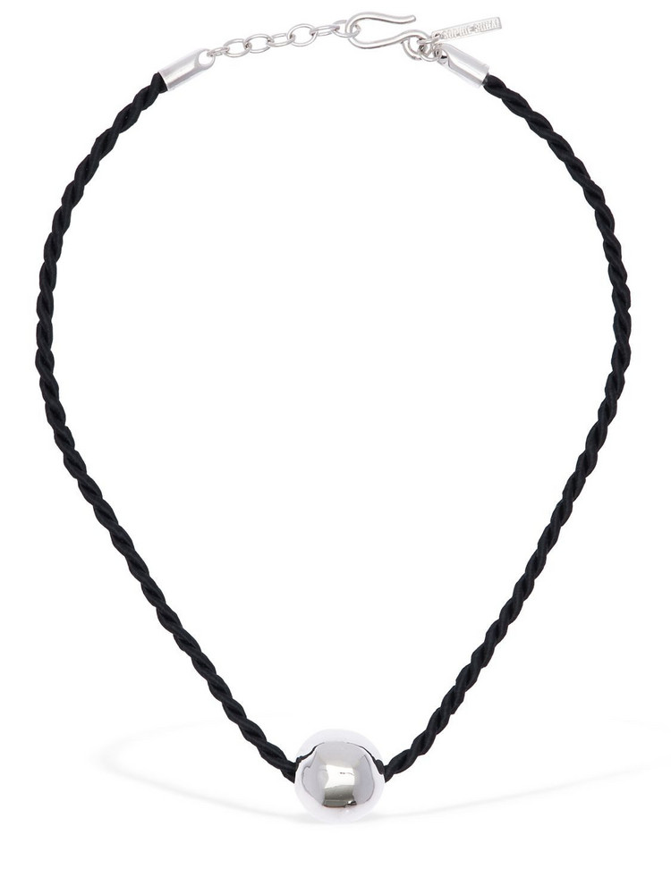 SOPHIE BUHAI Medici Choker Necklace in black / silver