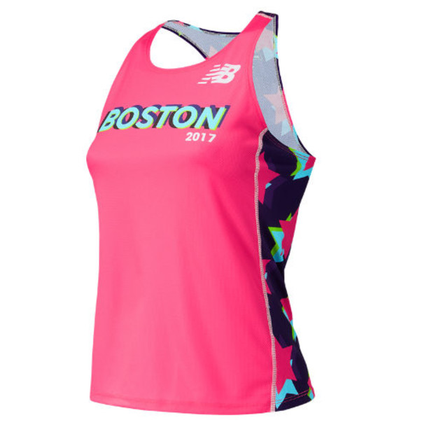 New Balance 298 Women's Boston Singlet - Pink (TFWT298ZAKK)