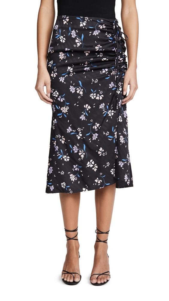 Veronica Beard Vanity Skirt in black / multi
