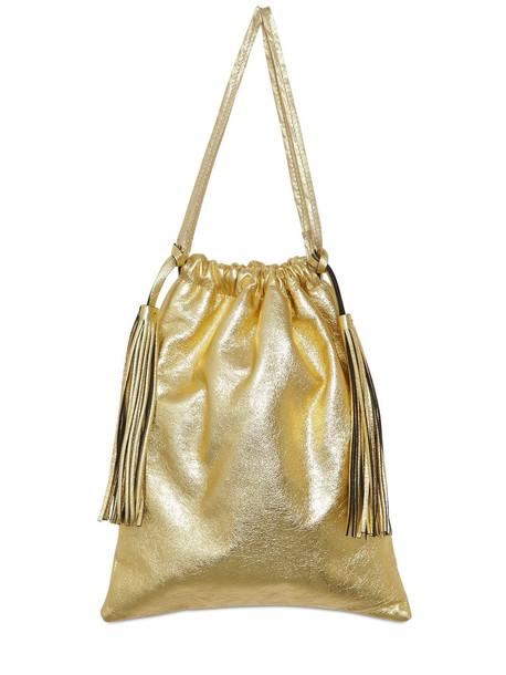 ATTICO Metallic Leather Pouch in gold