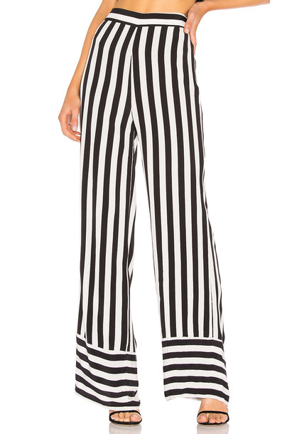 Lovers + Friends Lux Pant in black / white