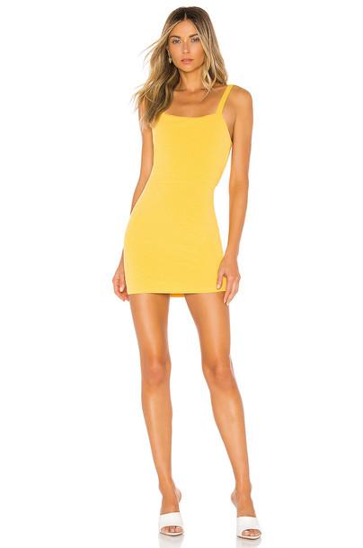 superdown Romy Tie Back Dress in yellow
