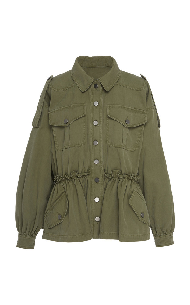 Marissa Webb Marshall Washed Canvas Jacket in green