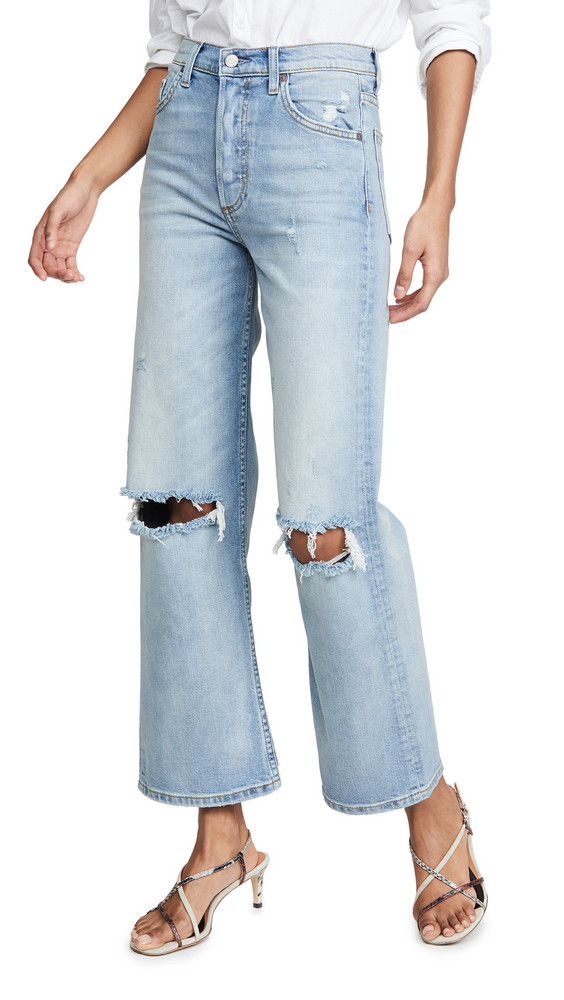 Boyish The Mikey Wide Leg Flare Jeans in blue