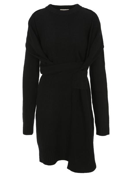 Bottega Veneta Intrecciato Knitted Dress in black
